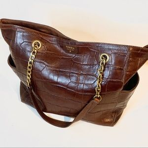 Fossil large hand bag